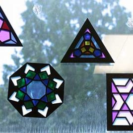 Stained glass polygons